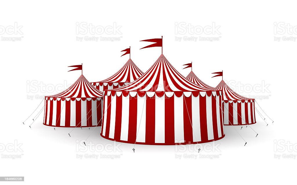 Circus tents stock photo
