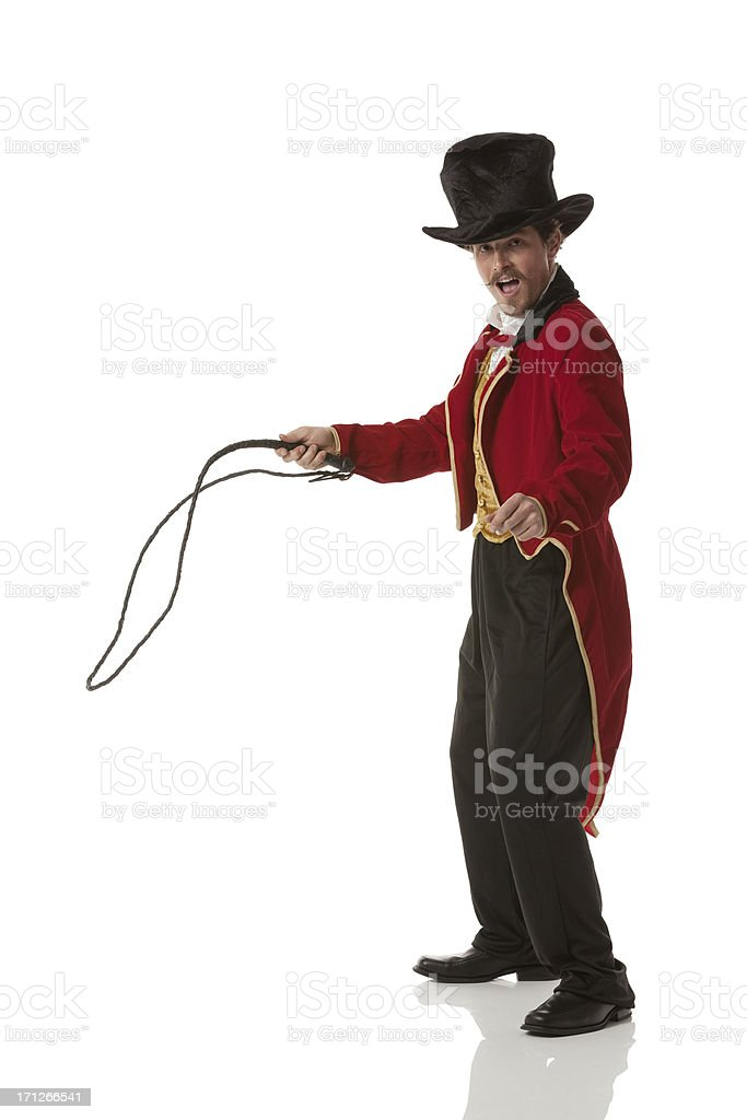 Circus trainer stock photo
