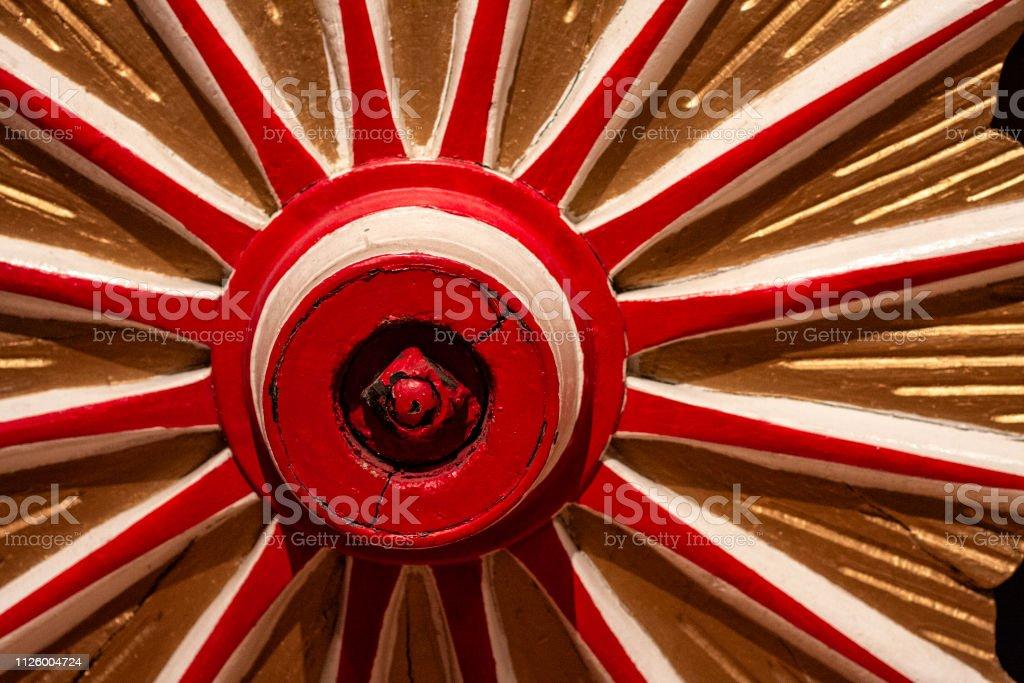 Circus Wagon Wheel 1 stock photo