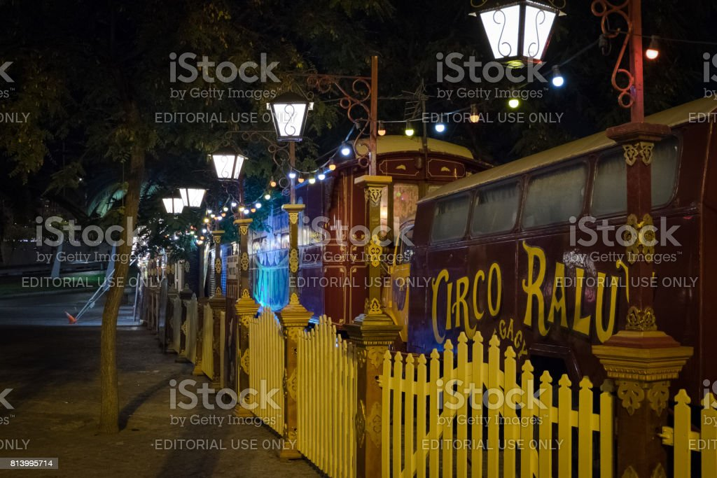 Circus Wagons stock photo