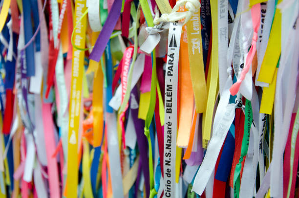 Cirio de Nazaré Religious Ribbons stock photo