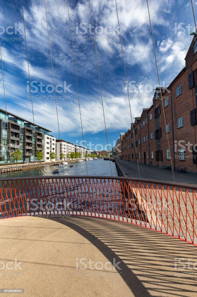 Cirkelbroen bridge christianshavn canal Portrait stock photo