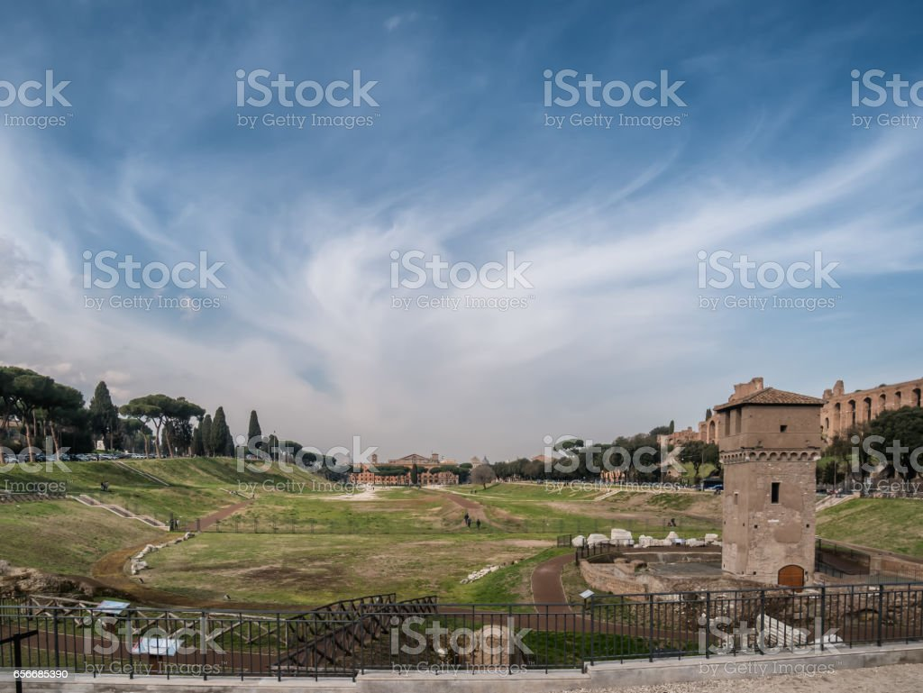 Cirkus Maximus in modern Rome stock photo