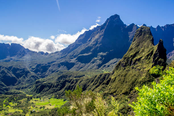 Cirque de Mafate in La Reunion island stock photo