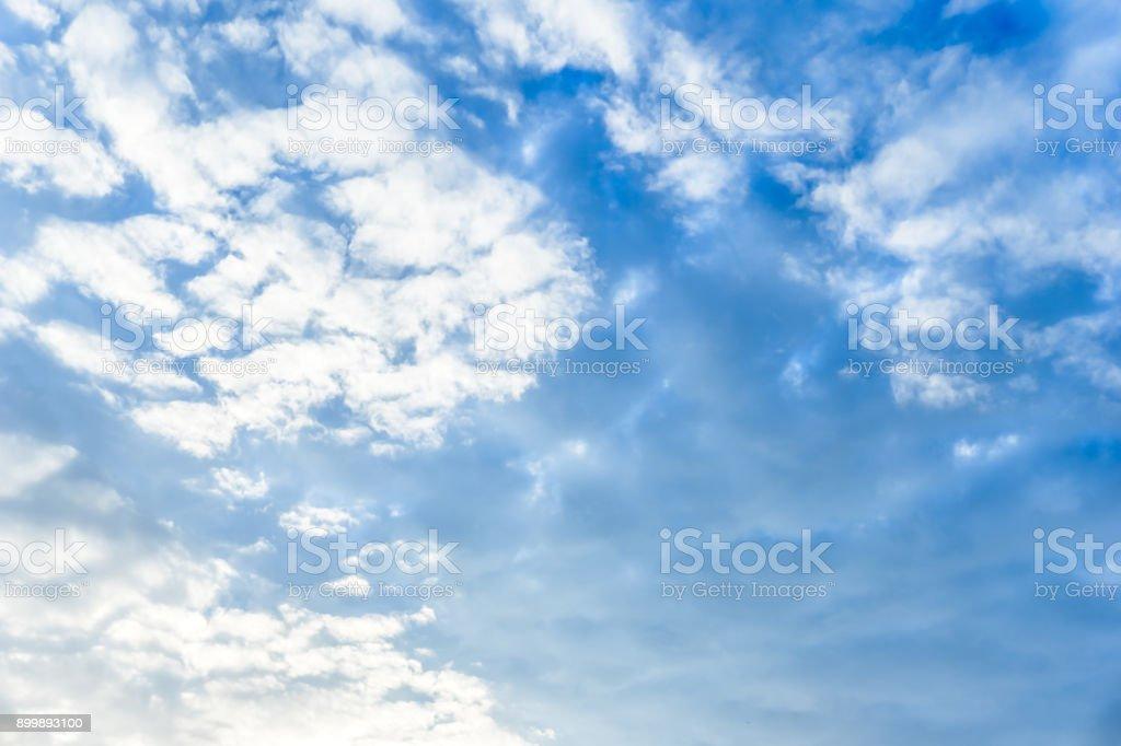 Cirro-cumulus cloud in th blue sky stock photo
