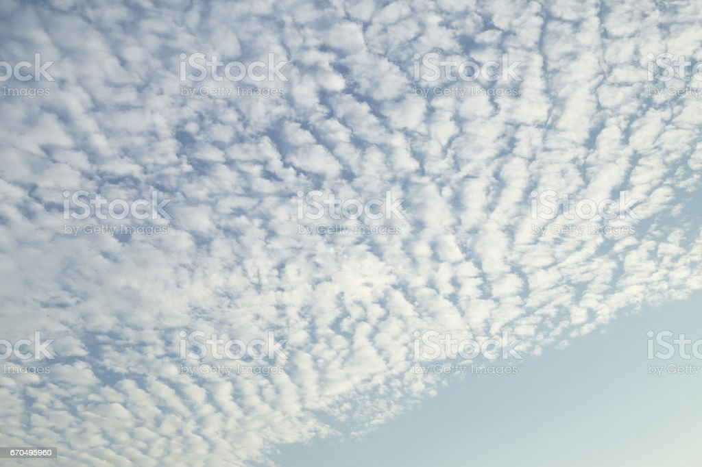 Cirrocumulus Cloud on blue sky. stock photo