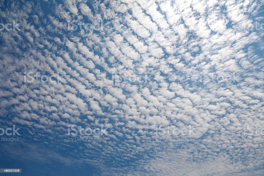 Cirrocumulus Cloud stock photo