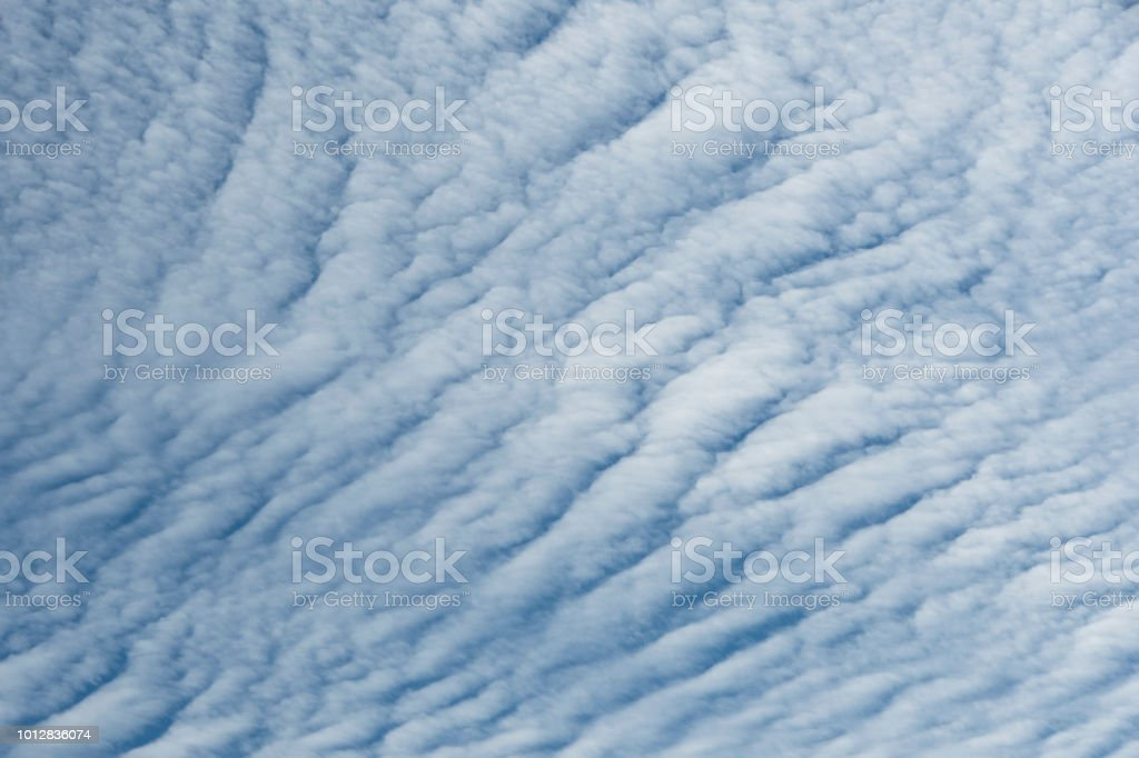 cirrocumulus clouds stock photo