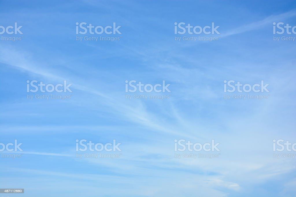 cirrus clouds against the blue sky stock photo