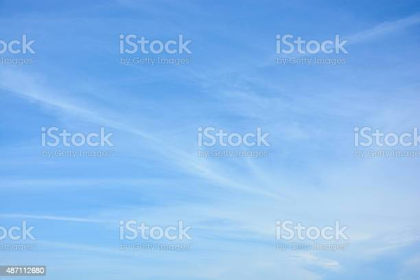 Photo of cirrus clouds against the blue sky