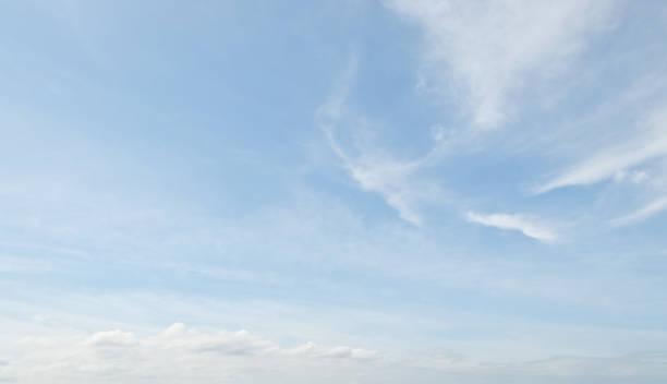 Cirrus Clouds in a Blue Sky stock photo