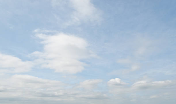 cirrus clouds in a blue sky - jeff goulden stock photos and pictures