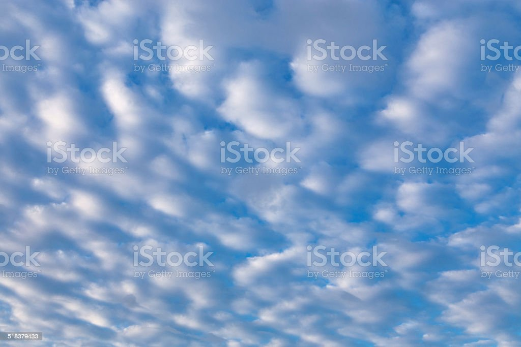 Cirrus clouds in blue sky stock photo