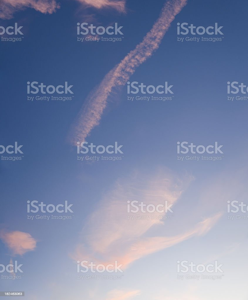 cirrus Clouds in the sky (image size XXL) stock photo