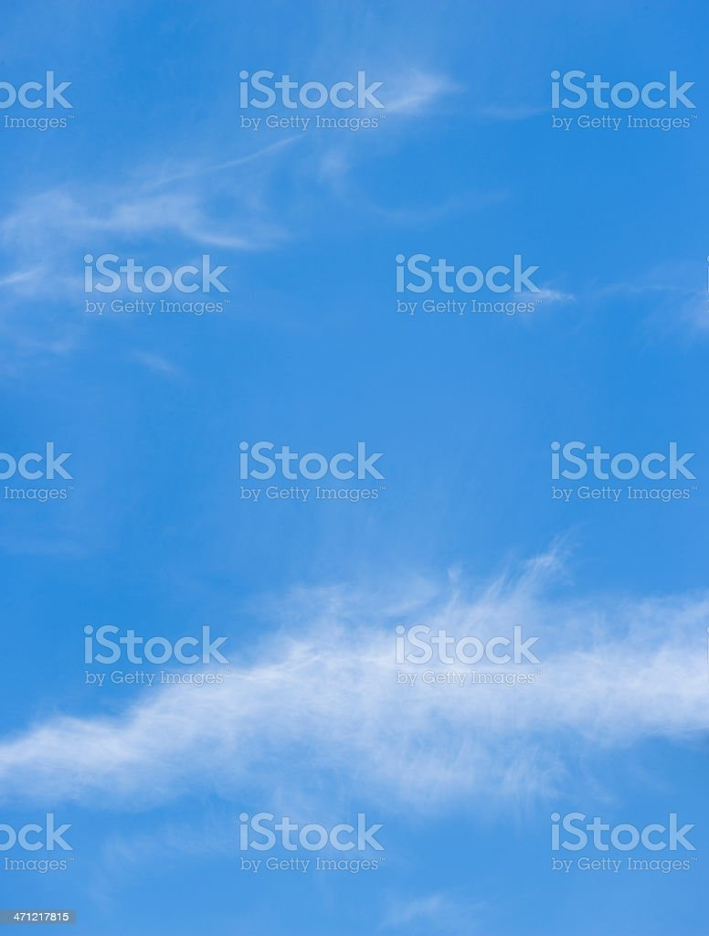 Cirrus Clouds in the sky  (image size XXXL) royalty-free stock photo