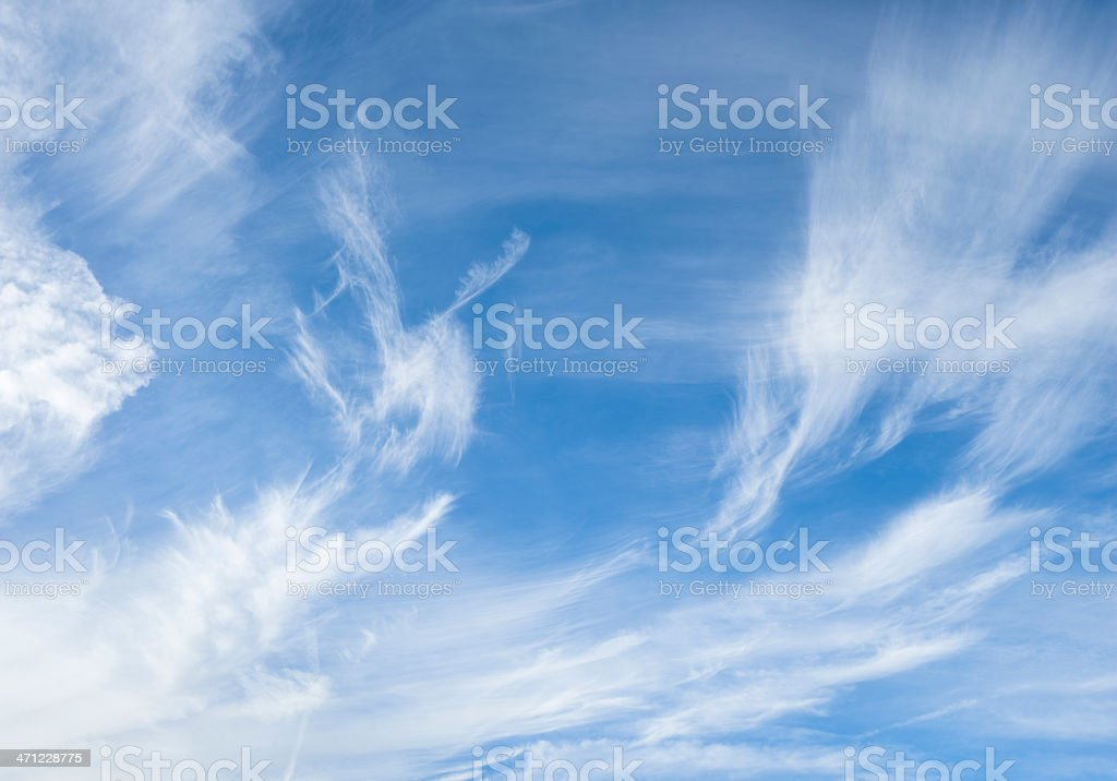Cirrus Clouds in the sky  (image size XXXL) stock photo
