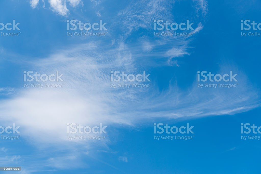Cirrus Clouds in the sky stock photo