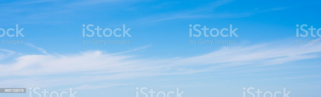 Cirrus clouds in the springtime - Royalty-free Atmosphere Stock Photo