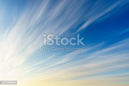 istock Cirrus clouds on blue sky 527058524
