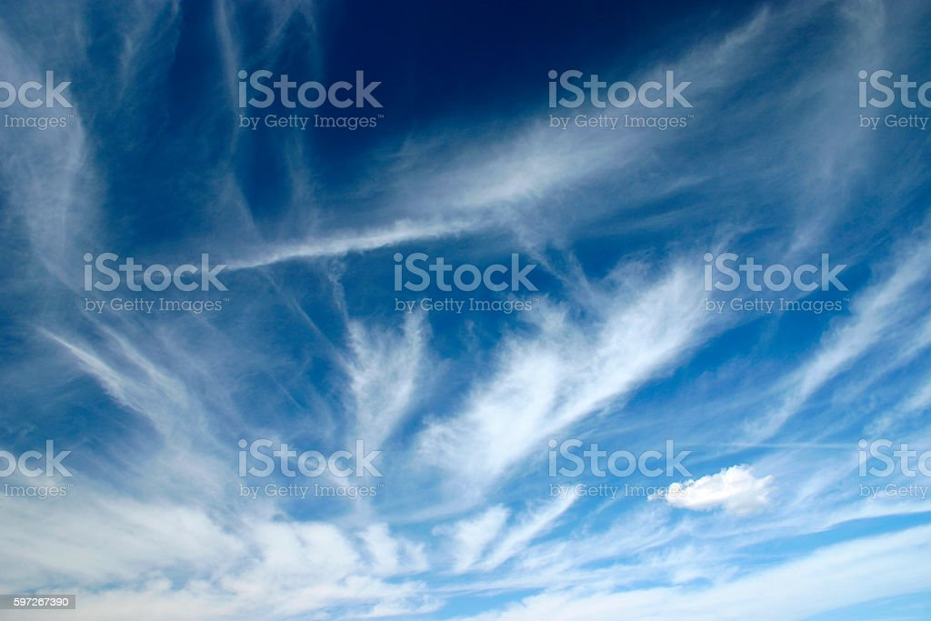 cirrus clouds . stock photo