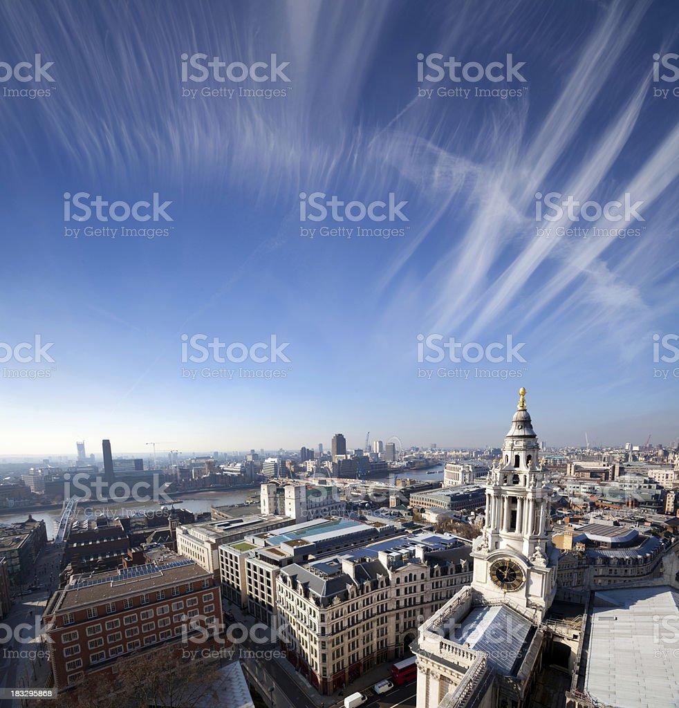 Cirrus Over St Paul's stock photo