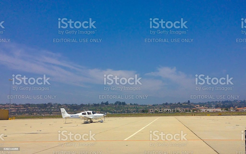 Cirrus SR22 in Camarillo airport, CA royalty-free stock photo