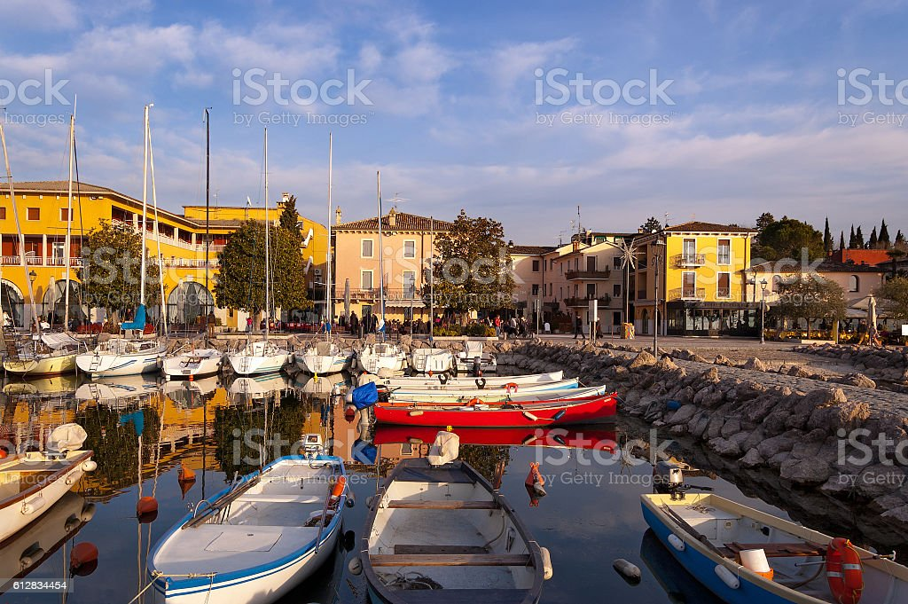 Cisano Port - Garda Lake Bardolino Italy stock photo