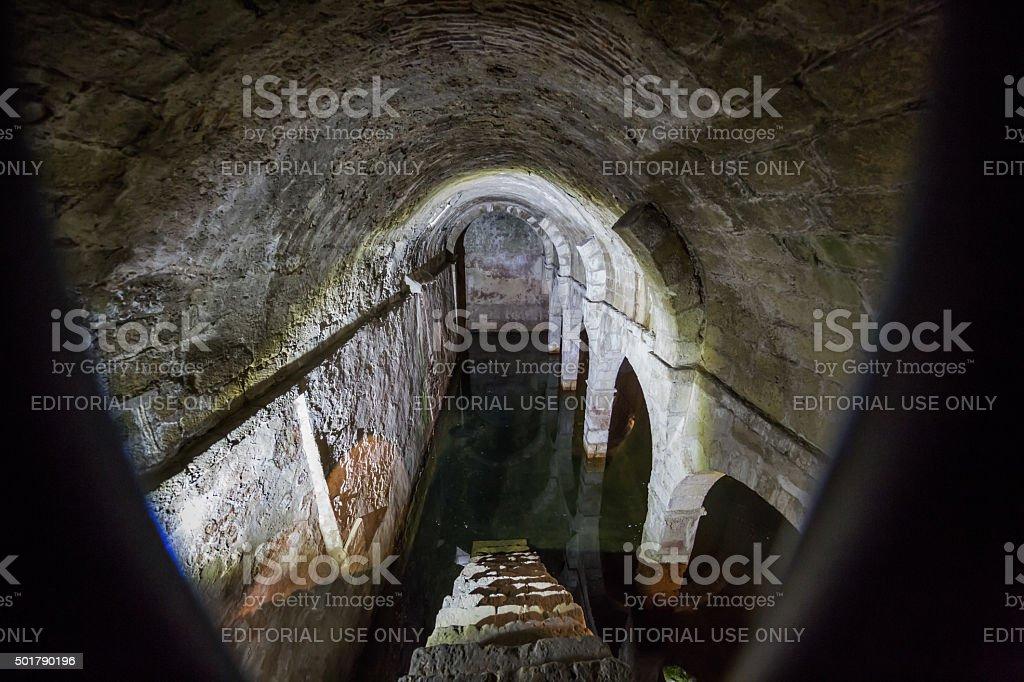 Cistern in Mosteiro de São Vicente de Fora, Lisbon, Portugal stock photo