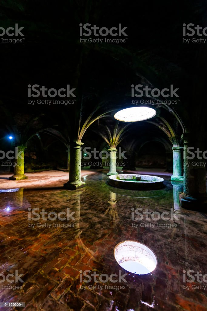 Cistern made by portuguese in El Jadida, Morocco stock photo