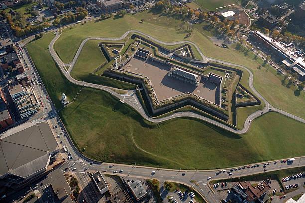 Citadel Hill, Halifax Nova Scotia Canada. Aerial view stock photo