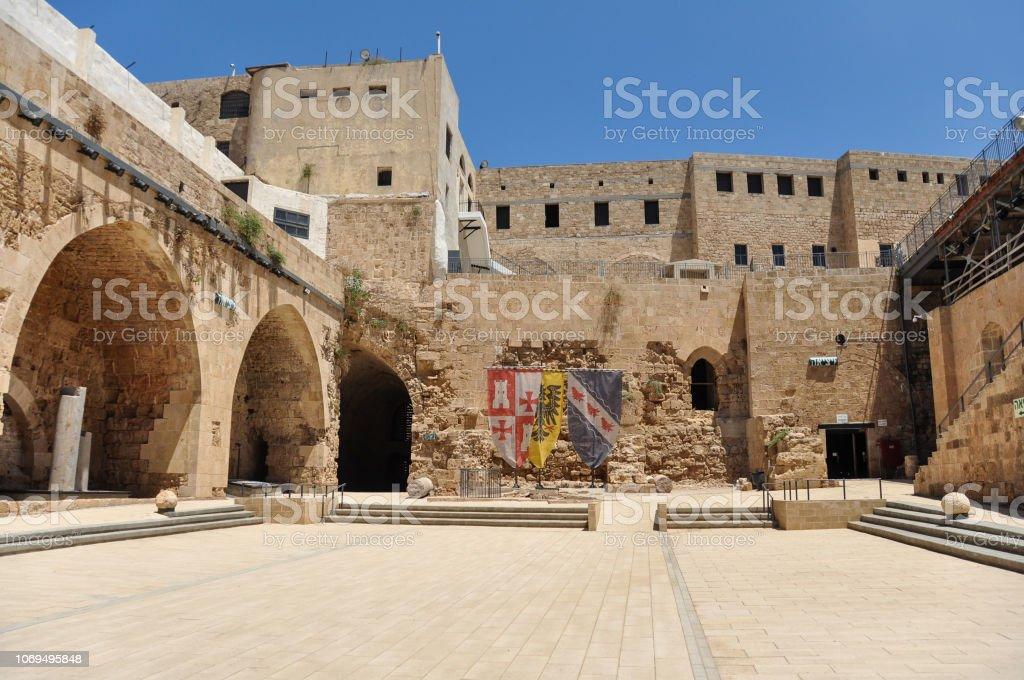 Cidadela do Acre, uma fortificação Otomano em Israel - foto de acervo