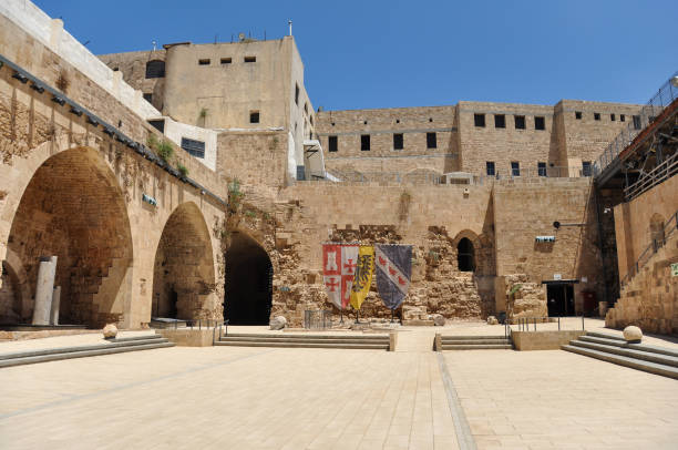 Citadel of Acre, an Ottoman fortification in Israel stock photo