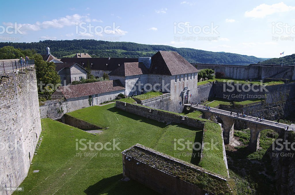 Citadel of Besancon stock photo