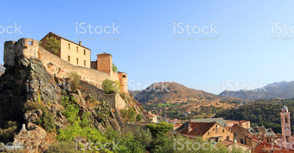 Citadel of Corte, Corsica stock photo