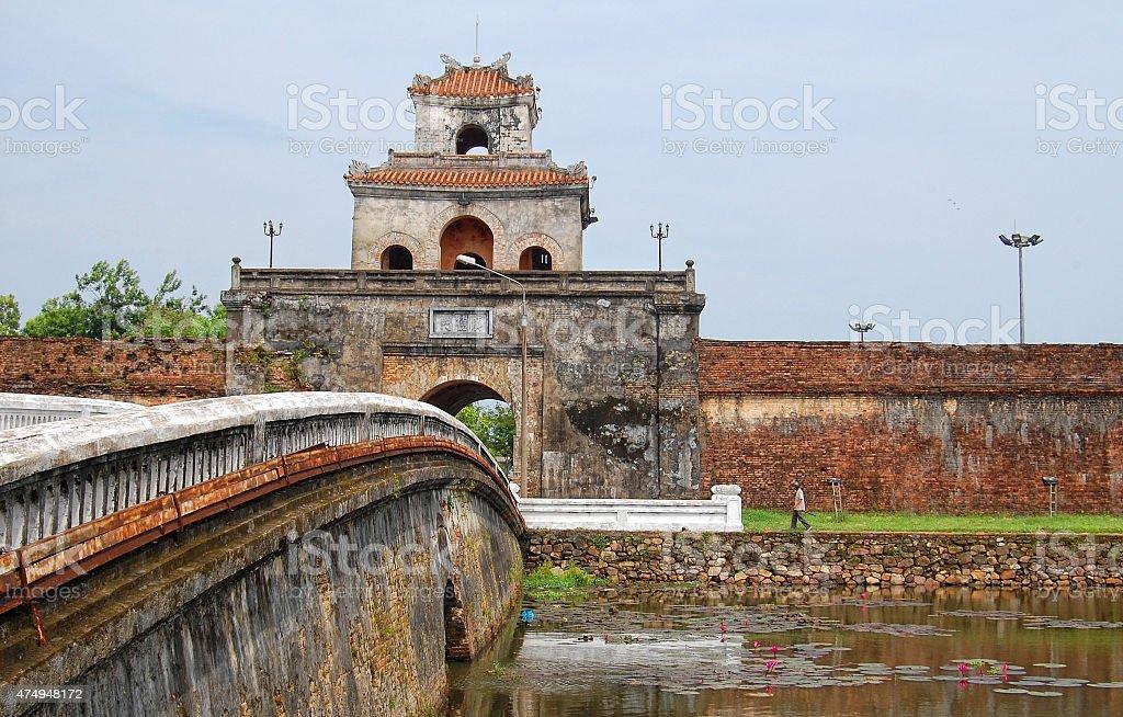 Citadel of Hue, Vietnam stock photo