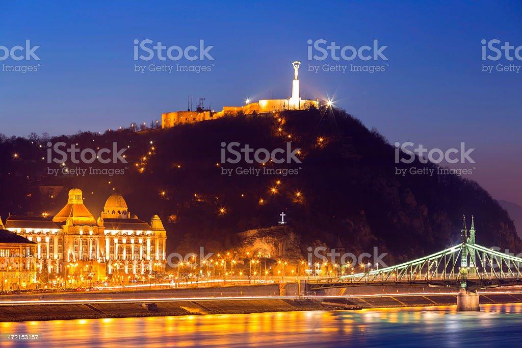 Citadella in Budapest stock photo