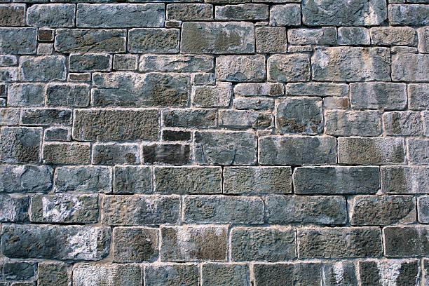 citadelle de quebec grey brick wall background - versterkte muur stockfoto's en -beelden