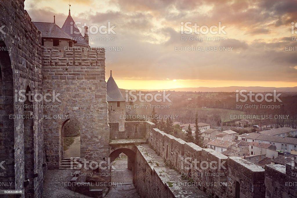Cite de Carcassonne, France stock photo