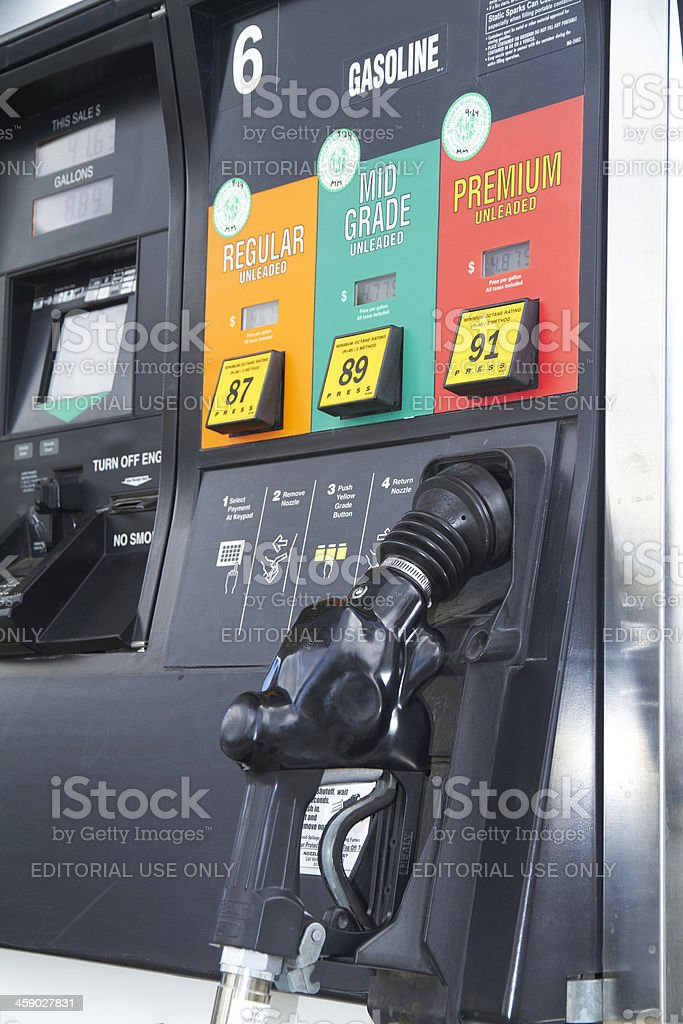 Citgo gas pump showing high prices stock photo