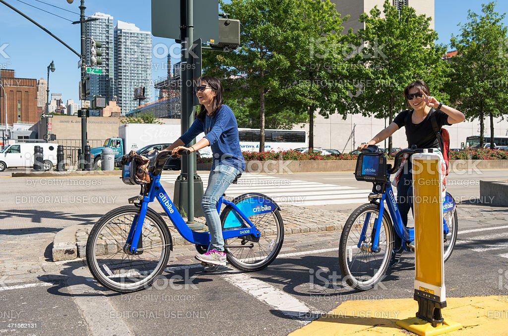 Citi bike bicycle rider stock photo