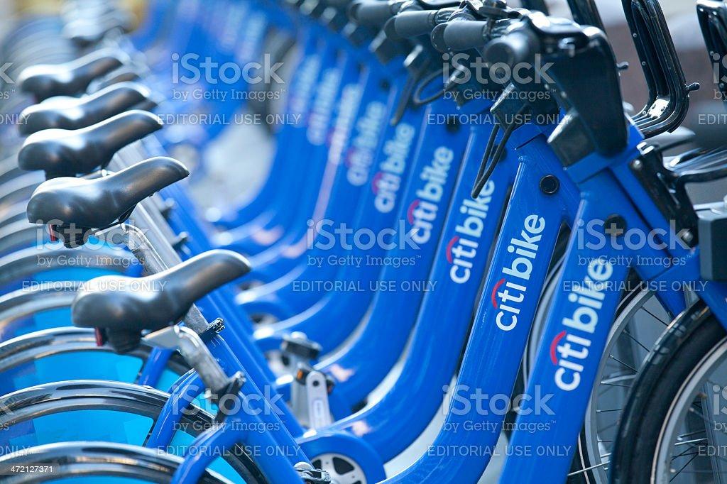 Citi Bike in New York City stock photo