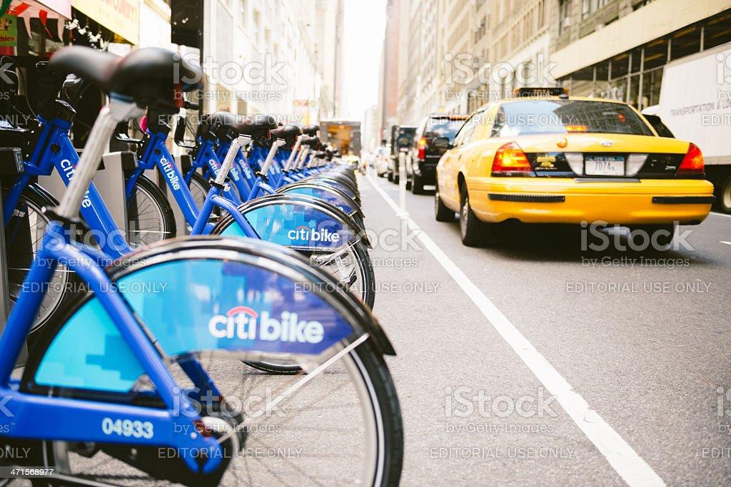 Citi Bike New York royalty-free stock photo
