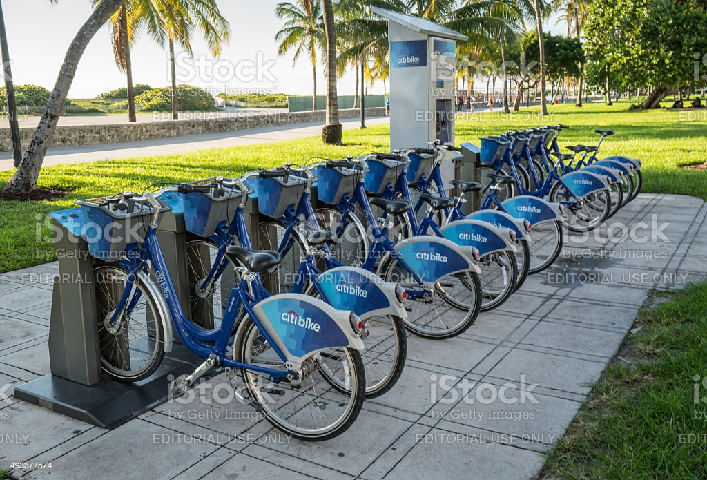 Citi Bike Miami >> Citi Bike Station Miami Beach Stock Photo Download Image