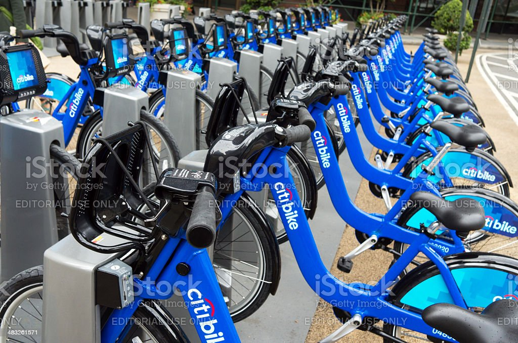 Citi Bike Station royalty-free stock photo