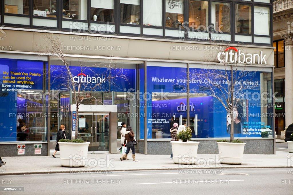Citibank Branch Manhattan stock photo