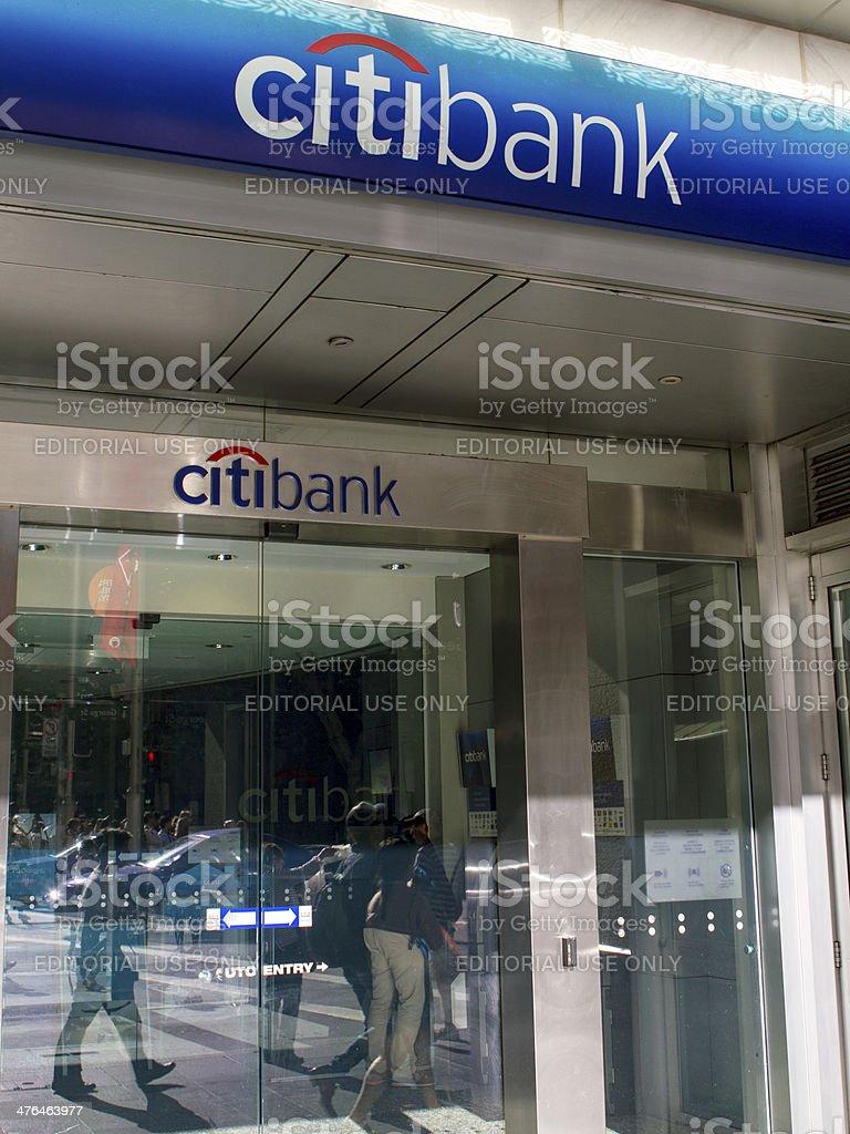 Citibank branch stock photo
