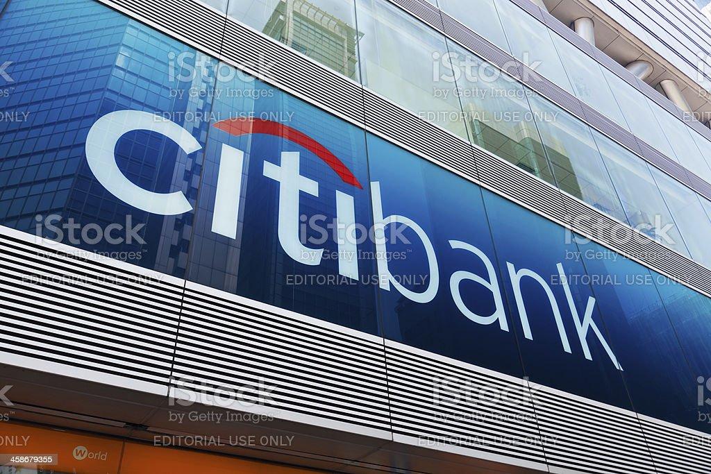 Citibank sign and logo in Mongkok, Hong Kong stock photo