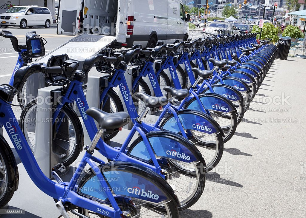 CitiBike Rentals royalty-free stock photo