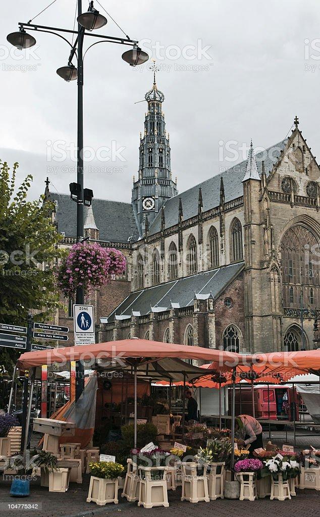 Cities; Monday Morning Market royalty-free stock photo