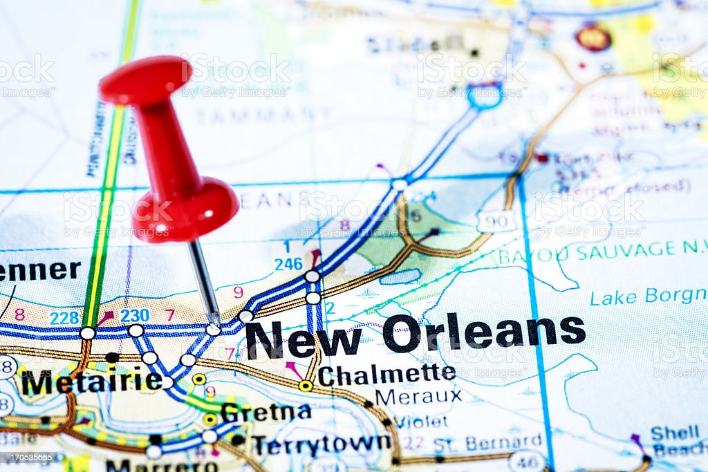 Us Cities On Map Series New Orleans Louisiana stock photo iStock